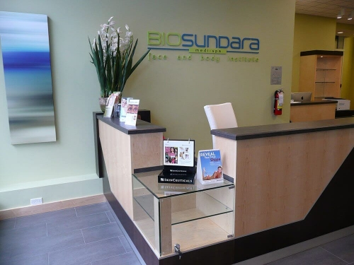 Medispa reception desk